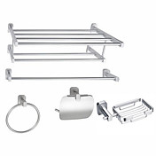 Aluminum 5-piece Bathroom Accessory Set (1041-LES-6200+6201+6207+6208+6209)