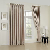 (Two Panels) Classic Solid Blackout Curtains