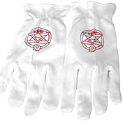 Gloves Inspired by Fullmetal Alchemist Roy Mustang White Magic Circle (2 pieces)