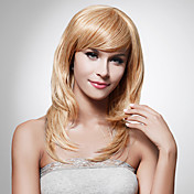 capless longue synthtique de haute qualit perruque de cheveux blonds staight