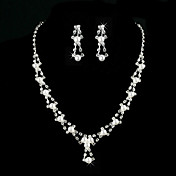 Amazing Alloy With Rhinestone / Imitation Pearl Women's Jewelry Set Including Necklace, Earrings