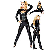 Hot Black PU Leotard Halloween Costume(1 Piece)