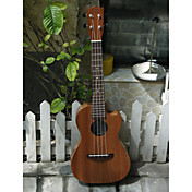 Koa Pili Koko - (Mhy-tc) All-massief mahonie cutaway Tenor Ukulele met Bag / Strap