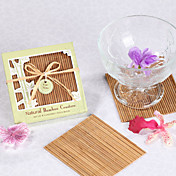 Natural Bamboo Eco-Friendly Coaster Favors (set of 4)