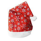 Fancy Decorative Pattern Red Fur Christmas Hat(1 Pieces)