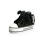 Fashion Canvas Platform Ankle Boots With Lace-up Graduation Shoes (More Colors)
