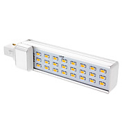 G24 5W 24x5730 SMD 500-600LM 3000-3500K Warm White Light LED Corn Birne (85-265V)