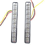 2 PCS Car Auto 4W 8 LED DRL conduite Daytime Running Light