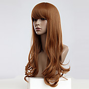 Capless Long Golden Blonde Wavy Synthetic Wigs