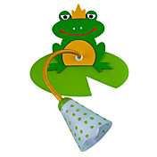 40W Applique murale contemporaine en bois pour enfants avec 1 Lumire Frog Design