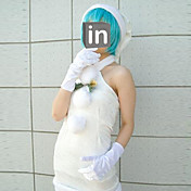 cosplay kostyme inspirert av Neon Genesis Evangelion Rei Ayanami hvit