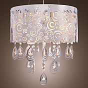 Elegant Stainless Steel 5-Light Pendant Light with Crystal Drops