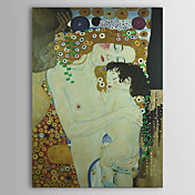 Mre et enfant (Dtail Des Trois ges de la femme) C1905 par Gustav Klimt Qualit de Muse avec feuille d'or