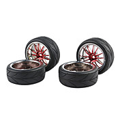 NEW 4PCS Plating  Wheel Rim & Tyre For  RC  ON-road Cars