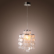 Mini White Shell Pendant Chandelier (Chrome Finish)