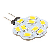 G4 4.5W 9x5630 SMD 400-430lm 3000-3500K Warm White Light Lotus Shaped LED Spot Lampe (12V)