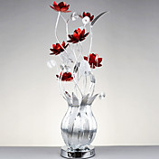 20W G4 Floor Lamp with Red Flowers