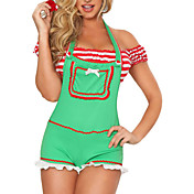 Cute Red Polyester Christmas Costume (3 Pieces)