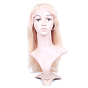 "Nieuwe Lijm-less Cap Met Combs Silky Straight 18 ""Blond 100% Indian Remy Lace Wig"