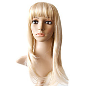 100% Indian Remy Hair Mono Top Blonde  Silky Straight Long Wig