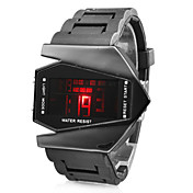 Montre LED pour Homme Edition V, Bracelet en Silicone, Avec Affichage de la Date - Noire