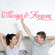 Removable Always And Forever Art Words Wall Stickers