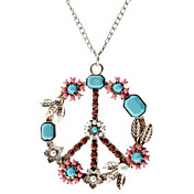 Colorful Peace Symbol patrón Necklace