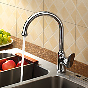 Sprinkle® by Lightinthebox - Centerset Single Handle Chrome Finish  Brass Kitchen Faucet