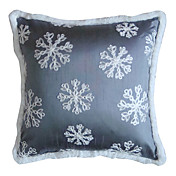 moderna inverno snowflower fronha decorativo