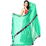 Ytelse Dancewear Chiffon med paljetter Belly Dance Veil For Ladies Flere farger