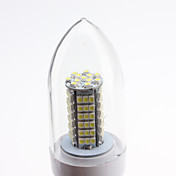E27 5.5W 102x3528 SMD 500-550LM 5500-6500K Natural White Light LED Candle Bulb (220-240V)