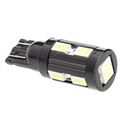 T10 5W 10x5730 SMD White Light LED Bulb for Car Signal Lamp (12V)
