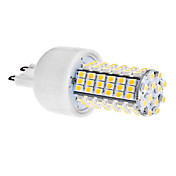 G9 5W 102x3528 SMD 400-420LM 3000-3500K Warm White Light LED Corn Bulb (110V/220V)