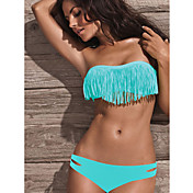 Women's Bandeau Strapless Blue Acacia Swimwear