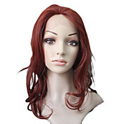 Lace Front Syntetisk Red lange krøllede Long Wig