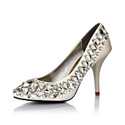 Fashion Leather Stiletto Heel Pumps With Crystal Party / Evening Shoes