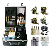 4 Guns Complete Empaistic Tattoo Kit with Power Supply