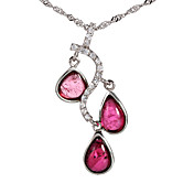 Fashionable 925 Silver With Tourmaline Plating 18K Gold Women's Necklace