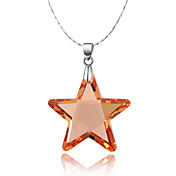 Star Shape 925 Silver With Cubic Zirconia Women's Necklace