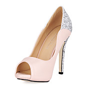 glitrende glitter stiletto hl Peep toe pumper / sandaler parti / kveld sko med paljett
