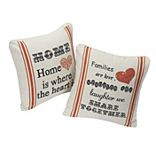 Set van 2 Home katoen / linnen decoratieve Kussensloop