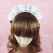 Handmade Maid Black and White Lace Country Lolita Headband