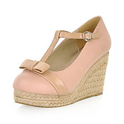 Leatherette Wedge Heel Closed Toe Party / Evening Shoes(More Colors)