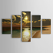 Peints  la main peinture de paysage Paysage Huile Set surdimensionn de 5