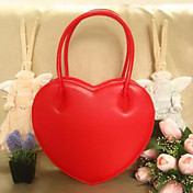Handmade Red Heart Shaped PU Leather Sweet Lolita Bag