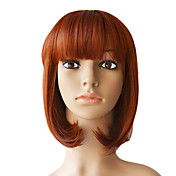 Lace Front 12 Inch Silky Straight High Quality Synthetic Hair Wigs