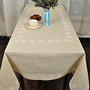Classic Beige Linen Pattern Table Cloths