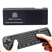 MK808 Android TV Box 1 Go de RAM / disque dur de 8 Go RK3066 cadencé à 1,6 GHz Cortex-A9 dual core 2,4 GHz + RC12 Souris Clavier sans fil Air