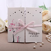 Pink Ribbon Wedding Invitation - Set Of 50