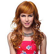 Capless Long Wavy Blonde 100% Human Hair Wigs 2 Colors to Choose